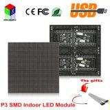 P3 Innen-SMD farbenreiche LED-Bildschirmanzeige-Baugruppe 192mm x 96mm, 64*32 Pixle 1/16 video LED Bildschirm-Vorstand Scan RGB-