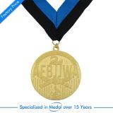 Médaille de softball de souvenirs d'or avec le ruban de citations des Jeux Olympiques de quête de la Race