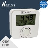 Relógio da estação meteorológica com controle de rádio com calendário e fase da lua