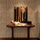 Grüne Farben-Bambusentwurfs-preiswerte Wand-dekorative Tapete 3D