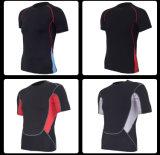 Spandex / Poliéster Short / Long Sleeve Gym T-Shirt Sportswear for Men