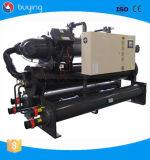 45-50ton 60HP escogen el fabricante de planta refrigerado por agua del refrigerador del tornillo