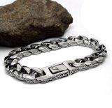 Vintage retro style en acier inoxydable bijoux en argent sterling bracelet en argent