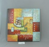 Talk Yellow Blue box Pattern OF Home Canvas Hanging Painting