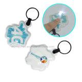 PVC Keychain СИД светлый с логосом OEM, изготовленный на заказ продуктом промотирования, идеально выдвиженческим подарком