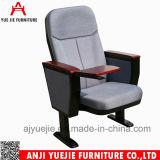 Diseño simple cubierta de tela Iglesia silla con tabla Wariting Yj1001n
