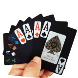 100% New Black Plastic Playing Cards / PVC Poker Playing Cards
