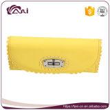 Бумажник PU желтого способа цвета кожаный для маленькой девочки
