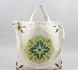 Sacchetto riutilizzabile del cotone/sacchetto di acquisto stampato sacchetto cotone della tela di canapa