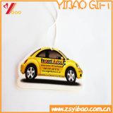 Kundenspezifisches runde Form-Papier-Schwarz-Farben-Auto-Luft-Großhandelserfrischungsmittel für das Auto fördernd (YB-HD-80)
