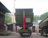 트럭 트레일러 스페셜 차량의 반 덤프 트럭 트레일러