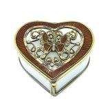 En forma de corazón moderno anillo de cristal geométrico Joyero (HX-7335)