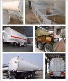 3 Ejes 30-45cbm / Petrolero del combustible del acero inoxidable semi remolque del camión