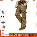 Uomini Pocket dei pantaloni del lavoro dei pantaloni del carico di formato 6 più