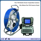 Камера сточной трубы pushrod кабеля стеклоткани диаметра 11mm с наклоном лотка поворачивает головку камеры
