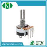 16-17mm mit Metalwelle-Montag-rotierendem linearem Potenziometer Wh148-K2-4