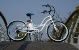 2017 bici elettrica calda dell'incrociatore 36V della spiaggia della donna di adulti di vendita