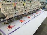 Neue kleid-Stickerei-Maschine des Entwurfs-6 Haupt, computergesteuerter Schutzkappen-Stickerei-Maschinen-industrieller Gebrauch für Verkauf