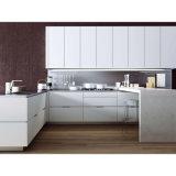 De aangepaste Witte Matte Keukenkasten van de Lak voor Flats