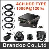 4Canal HD 1080P carro DVR 3G/4G/GPS DVR para táxi, autocarro e barco, comboio, Depósito, polícia carro usado