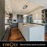 Novo gabinete de cozinha de madeira modificada personalizado brilhante
