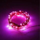 4.5 V 3 LEIDENE van de Kleur van aa Koord van de Fee van de Glimworm van de Batterij In werking gestelde Roze Daling van de Dauw het Sterrige Opvlammende Lichte voor de Decoratie van de Slaapkamer