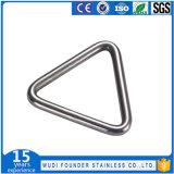 Anillo en D redondo soldado del anillo del anillo del triángulo del acero inoxidable