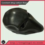 Casco de la cara llena de la fibra del carbón con el PUNTO del ECE