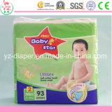 Couche-culotte remplaçable de bébé du bébé L72 de coton organique doux d'étoile