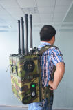 6 canais 90W Backpack Jammer & Bloqueador GPS 200m