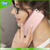 Couverture de galvanoplastie de cas de téléphone cellulaire du dos TPU d'espace libre de vue pour l'iPhone 6 6s/7/7 plus avec le point imperméable à l'eau à l'intérieur