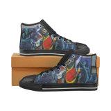 Dropshippingの工場方法印刷のズック靴標準的なHicut 003のスニーカーの習慣の靴