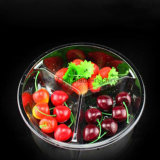 3 피스 뚜껑을%s 가진 투명한 과일 사라다 사발