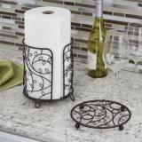 Metallrunde Form-Zweigecountertop-Halter-Zahnstange für Küche-Badezimmer
