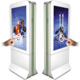 Digitaces al aire libre que hacen publicidad del tacto Screenkiosk de la visualización del LCD que hace publicidad del jugador