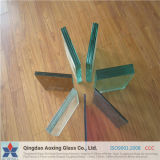 4.38-40mm Color/claro vidrio laminado con certificación CE