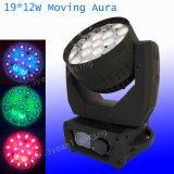 de LEIDENE van het Aura 19X12W RGBW Bewegende Hoofd Lichte Was van het Gezoem