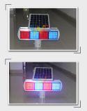 Doppelseiten-roter blauer Baugruppen-Verkehr, der SolarFlasing Licht warnt
