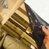 304 plaque enduite de finition d'acier inoxydable du numéro 8 d'or de Ti de PVC