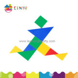 Toy educacional Jigsaw Puzzles Plastic Tangrams Puzzle Toy para Kids