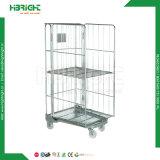 Contenitore logistico del rullo del carrello della gabbia del rullo del magazzino della rete metallica del metallo