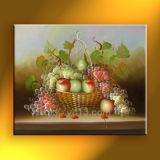 Handmade fruits Apple Busket raisin Huile sur toile pour décoration maison Hot Sale