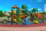 安い子供のプラスチック運動場装置、屋外の庭の運動場HD17-007A