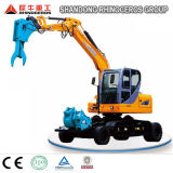 China 8 tonelada tanto Wheel-Crawler excavadora Excavadora de nuevo tipo