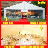 2018 Tent 10X20m 15X20m 20X25m van het Huwelijk van de Markttent van de Partij van de Gebeurtenis van de Muur van het Glas