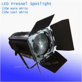 Hand Warme Witte/Koele Witte LEIDENE van het Gezoem 150W Fresnel van de Studio het Licht van de Vlek