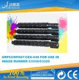 Neuer kompatibler Kopierer-Toner der Farben-C-Exv49/Npg67/Gpr53 für Gebrauch im Bild-Seitentrieb C3320/C3325/C3320L