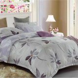 80GSM Reactive polyester/Microfiber Brushed Fabric softly King/Queen Bed Sheet set