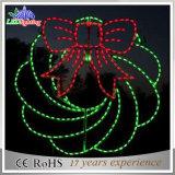Indicatori luminosi esterni di motivo della corda del fiore di nuovo natale 2D LED di stile