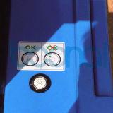 Tabela de elevador hidráulico aérea da liga de alumínio do elevador do homem do mastro dobro